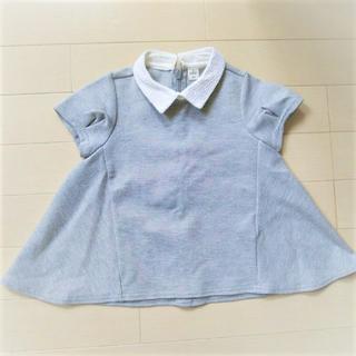 エフオーキッズ(F.O.KIDS)のサイズ90 F.O キッズ グレー 襟付き カットソー フォーマル(Tシャツ/カットソー)