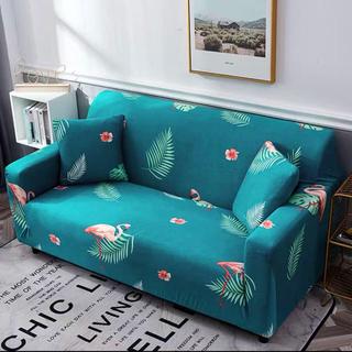 新品3人掛けソファーカバー可愛いおしゃれフラミンゴ柄付き汚れいたずらなど防止万能(ソファカバー)