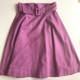 プロポーションボディドレッシング(PROPORTION BODY DRESSING)のプロポほぼ新品*シルキースエードフレアスカート(ひざ丈スカート)