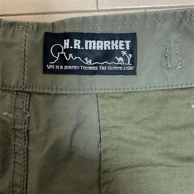 HOLLYWOOD RANCH MARKET(ハリウッドランチマーケット)のHRM ハリラン ハーフパンツ カーゴパンツ カーキ Mサイズ メンズのパンツ(ショートパンツ)の商品写真