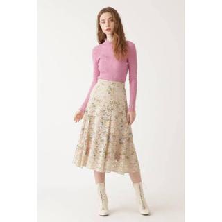 JILLSTUART - 【ジルスチュアート】カメル刺繍レーススカート