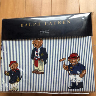 ラルフローレン(Ralph Lauren)のラルフローレン ポロ ベア フィッティドシーツ セミダブルサイズ(シーツ/カバー)