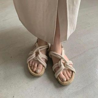 Kastane - amiur ロープサンダルnatural rope sandal