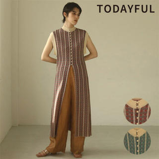 TODAYFUL - ジャガードニットドレス