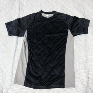 ゼット(ZETT)のZETT メンズM トレーニングTシャツ ネイビー×グレー(Tシャツ/カットソー(半袖/袖なし))