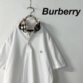 BURBERRY - 【美品】Burberry LONDON ノバチェック 鹿の子 ポロシャツ