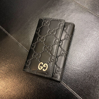 Gucci - GUCCI グッチ  グッチシマ 6連キーケース  GG柄 473924