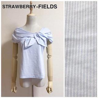 STRAWBERRY-FIELDS - STRAWBERRY-FIELDS リボンプルオーバー トップス   サイズF