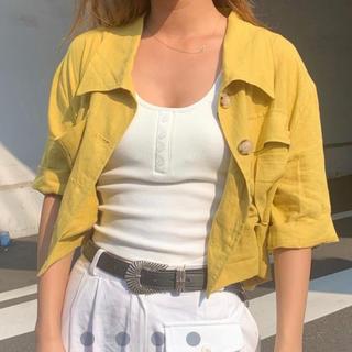 アリシアスタン(ALEXIA STAM)のAclent Short sleeve shirt(シャツ/ブラウス(半袖/袖なし))