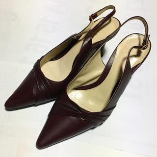 ピッティ(Pitti)の【激安】パンプス ハイヒール ワインレッド 23cm 美品 婦人靴 革靴(ハイヒール/パンプス)