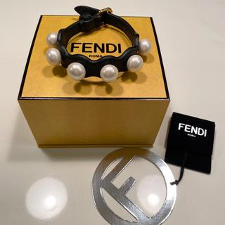 フェンディ(FENDI)の期間限定価格!FENDI パール レザー ブレスレット(ブレスレット/バングル)