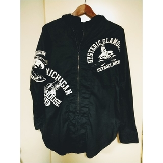 HYSTERIC GLAMOUR - HYSTERIC GLAMOUR ヒステリックグラマー フード付きシャツ