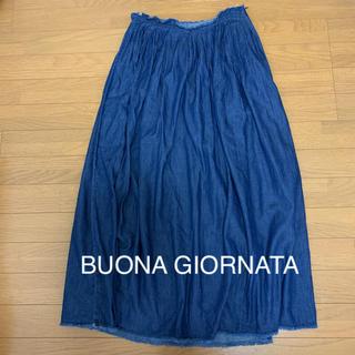 BUONA GIORNATA - ボナジョルナータ デニム風ロングスカート