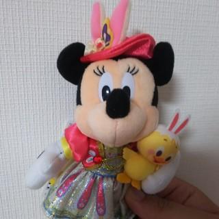 Disney - 最短7/13発送東京ディズニーシー うさぴよ イースター ミニーぬいぐるみバッジ