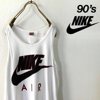 NIKE - 90's NIKE 銀タグ ビッグスウッシュロゴ ノースリーブシャツ