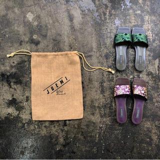 ALEXIA STAM - juemi サンダル CN Jacquard Square Sandals