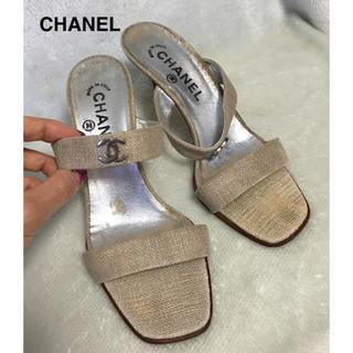 シャネル(CHANEL)のCHANEL シャネル 靴 サンダル ミュール(ミュール)