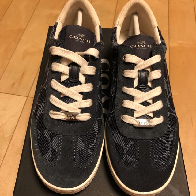 COACH(コーチ)の新品 コーチ デニムスニーカー レディースの靴/シューズ(スニーカー)の商品写真