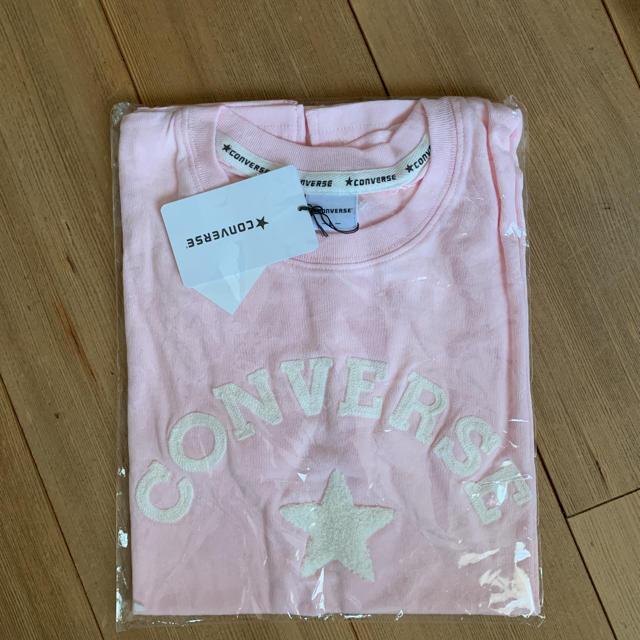CONVERSE(コンバース)の新品 コンバース 刺繍Tシャツ ピンク レディースのトップス(Tシャツ(半袖/袖なし))の商品写真