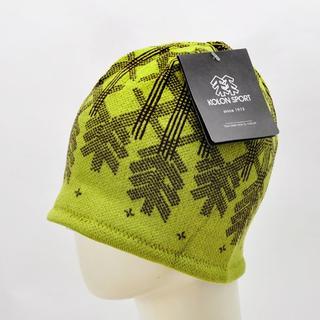 コロンビア(Columbia)のコロンスポーツン ニット帽Kolon Sportニットキャップ グリーン 新品(ニット帽/ビーニー)