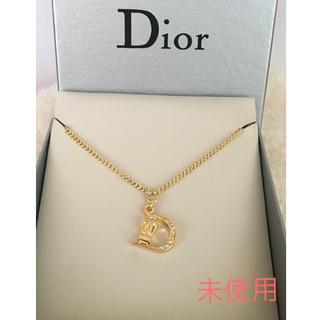 Christian Dior - 未使用 クリスチャン ディオール Dロゴネックレス ストーン キラキラ