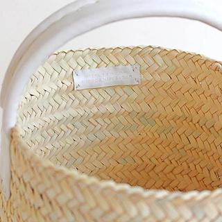 ミナペルホネン(mina perhonen)の#28 marché ワランワヤン (送料込み)ワンハンドル 新品 限定販売(かごバッグ/ストローバッグ)