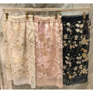 Lily Brown - LilyBrown 刺繍スカート