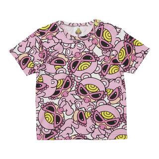 ヒスミニ♡テディ総柄BIGTシャツ