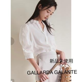 ガリャルダガランテ(GALLARDA GALANTE)の新品未使用❣️ガリャルダガランテ シャーリングパフブラウス定価20000円+税(シャツ/ブラウス(長袖/七分))