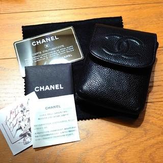 CHANEL - シャネル シガレットケース キャビアスキン