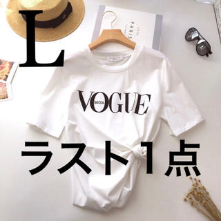 ZARA -  vogue SNS 人気 半袖 L レディース トップス レディースTシャツ