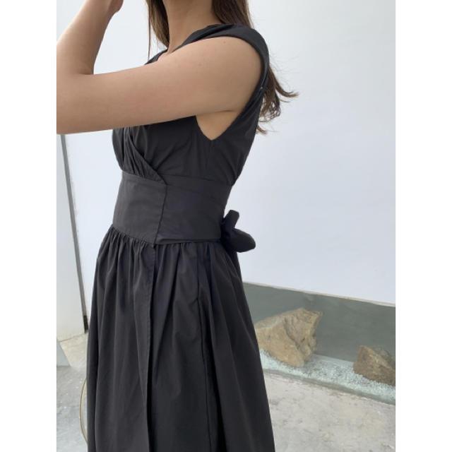 FRAY I.D(フレイアイディー)のバースデーバッシュ バックリボン ワンピース ブラック レディースのワンピース(ロングワンピース/マキシワンピース)の商品写真