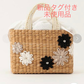 TOCCA - TOCCA PEARL EMBROIDERY WICKER TOTE かごバッグ