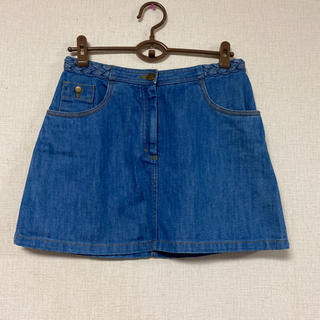 エイチアンドエム(H&M)の美品☆H&M☆ウエスト編みデザインデニムスカート(ひざ丈スカート)