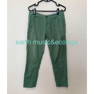 アースミュージックアンドエコロジー(earth music & ecology)のearth music&ecology コットンリネンパンツ(カジュアルパンツ)
