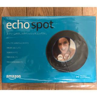 エコー(ECHO)の【新品未開封】Amazon echo spot ブラック(スピーカー)
