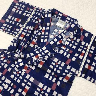 フタフタ(futafuta)の新品 チェックフリル甚平  futafuta フタフタ  95サイズ(甚平/浴衣)