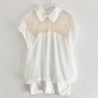 Drawer - 襟付き胸元シースルーブラウス S〜M