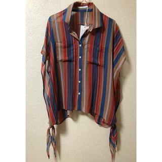 新品 フロウ&リンクス ストライプ シャツ(シャツ/ブラウス(半袖/袖なし))