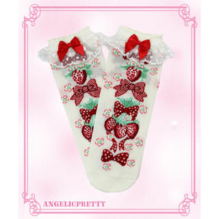 Angelic Pretty - Angelic Pretty Strawberry Doll クルー丈ソックス