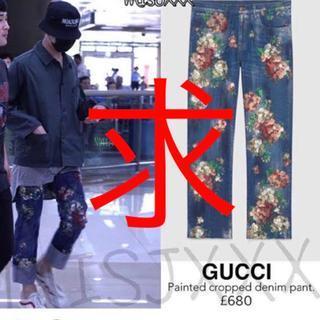 グッチ(Gucci)のGUCCI フラワーデニムパンツ(デニム/ジーンズ)