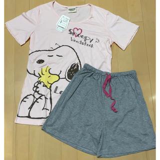 スヌーピー(SNOOPY)の新品タグ付き スヌーピー 夏服 半袖 パジャマ 部屋着(パジャマ)