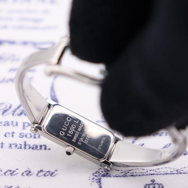 Gucci(グッチ)の正規品【新品電池】GUCCI 1500L/バングル 定番モデル 動作品 レディースのファッション小物(腕時計)の商品写真