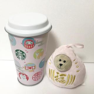 スターバックスコーヒー(Starbucks Coffee)のスターバックス 東京界隈 限定 VIA缶 だるま ぬいぐるみ べアリスタ ピンク(ぬいぐるみ)
