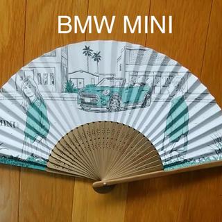 ビーエムダブリュー(BMW)のMINI オリジナル 扇子【BMW MINIクーパー非売品】新品未開封(車内アクセサリ)