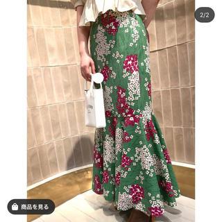 Lily Brown - [限定]紫陽花柄マーメイドスカート