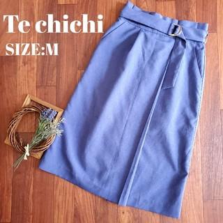 Techichi - テチチ Techichi 青 スカート ベルト付 膝丈