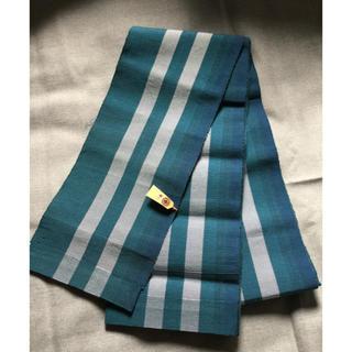 半幅帯(単衣/高麗納戸)