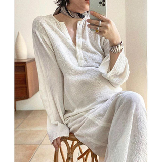 トゥデイフル(TODAYFUL)のTODAYFUL Embroidery Gauze Dress  36 刺繍(ロングワンピース/マキシワンピース)
