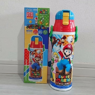 スーパーマリオ 新品 超軽量 ダイレクトステンレスボトル 580ml(水筒)